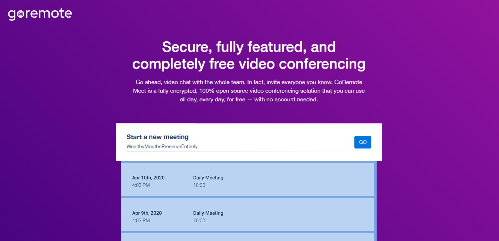 URL de reuniones personalizadas
